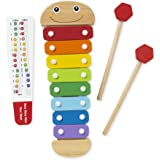 Melissa & Doug 8964 Caterpillar Xylophone Musical Toy With Wooden Mallets,Blue