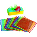 Excellerations Plush Pull & Play 12 inch L x 5-1/2 inch W x 3-1/2 inch H Tissue Box 12 Square Scarves for Children, Kids Educ
