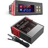 DiyStudio 10A / AC 110V-220Vデジタル温度コントローラは熱電対ディジタルサーモスタットを制御します-50°C〜110°C センサー 付き MH1220W AC110V 冷蔵庫 水族館 実験室 倉庫 温室などの温度管理システム