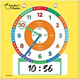 Teacher's Choice Dry Erase Educational Teaching Clock | Large Demonstration Teaching Time Clock with Erasable Writing Surface
