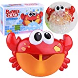 Kingtree Baby Bath Bubble Toy Bubble Crab Toys with 12 Pure Music, Automatic Bubble Blower Machine for Toddlers Shower Cute B