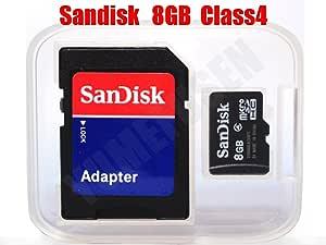 サンディスク SanDisk microSDHC 8GB クラス4 SDアタプタ付 並行輸入 バルク品