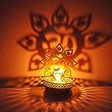 Hashcart Traditional Tea Light Candle Holder/Metal Candle Light Holder Set/Designer Votive Candle Holder Stand/Table Decorati