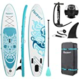 FBSPORT Brushed Thickening Inflatable Stand Up Paddle Board with Complete Accessories & Carry Bag, Wide Stance, Surf Control,