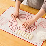 Non-Slip Silicon Baking Pastry mat | Extra Large | Extra Thick | Non-Stick with Measurement | Dough Rolling and kneading for