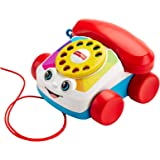 Fisher-Price Chatter Telephone, pull toy phone for walk-along play