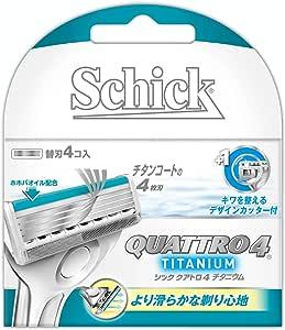 シック Schick クアトロ4 チタニウム替刃 (4コ入)