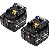 Reoben互換BL1460B マキタバッテリー マキタ14.4vバッテリー マキタ6.0ah バッテリー マキタ互換バッテリーマキタ バッテリー マキタBL1430 BL1430B BL1440 BL1450インパクト電池純正互換対応 2個セット