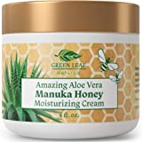 Amazing Aloe Vera Manuka Honey Moisturizing Cream for Face and Body - Gentle, Effective and Soothing for All Skin Types and C