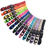 Milliepet Puppy ID Collars Nylon Soft Identification Colorful Adjustable Breakaway Safety Whelping Litter Collars for Pups wi