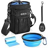 ORIA Dog Treat Bag, Dog Treat Pouch, Dog Treat Training Bag with Pet Training Waste Bag, Poop Bag Dispenser, Adjustable Strap