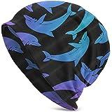 antfeagor Marine Dolphin Beanie Fashion Baggy Hat Slouchy Skull Cap for Men Women