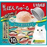 いなばペットフード 猫用おやつ 贅沢ぽんちゅ~る シーフードバラエティ 35g×10個