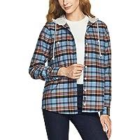[CQR] レディース 暖かい フランネルシャツ 秋 冬 厚手 長袖 チェック レギュラーフィット キャンプ アウトドア…