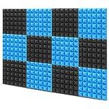 "Little-Lucky Acoustic Foam Panels,SoundProof Padding Foam Panels,2"" X 12"" X 12"" Studio Foam Pyramid Tiles Sound Absorbing Dam"