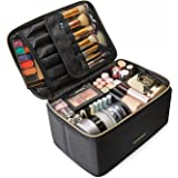 Makeup Case, LIGHT FLIGHT Travel Makeup Bag Cosmetic Case Organizer Portable Storage Bag with Adjustable Dividers for Cosmeti
