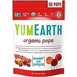 ヤミーアース(Yummy Earth) オーガニック ロリポップキャンディー 50個入り 海外直送 [並行輸入品]