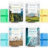LA BELLEFÉE Scented Wax Cube 4 Packs Scented Wax Melts Natural Soy Wax Cube for Warmer(4x2.5oz,OceanBreeze, FreshLinen,Boh