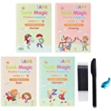 Sank Magic Practice Copybook Set Reusable Magic Calligraphy Copybook Set with Magical Pen Writing Tool Homeschool Kindergarte