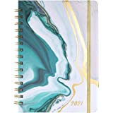 "Planner 2021 - Weekly & Monthly Planner with Tabs, 6.5"" x 8.5"", Hardcover with Bonus Stickers + Thick Paper + Back Pocket + B"