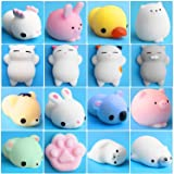 Mochi Squishies Toys, Outee 16 Pcs Squishies Cat Stress Mochi Animals Squishies Toys Stress Relief Squishies Animals Mochi Ca