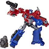Transformers E70965L00 Toys Cyberverse Deluxe Class Optimus Prime Action Figure, Matrix Mega Shot Attack Move and Build-A-Fig