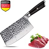 Meat Cleaver,Chinese Chef Knife,7 Inch Vegetable Kitchen Knife,German Stainless-Steel Chopper Cleaver Butcher Knife for Home