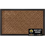 GRIP MASTER Durable, Tough All-Natural Rubber Indoor Outdoor Door Mat, Extra Large (29x17) Boot Scraper, Inside Outside Entry