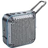 BT525BluetoothスピーカーIPX7防水・防塵サブウーファー高音質大音量TWS機能12時間連続再生バスルーム野外パーティー内蔵マイクAUXインターフェースUSB充電TFカードFMラジオポータブルミニハンズフリーコールキャラビナー1年保証(多