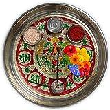 DEVIKA Shubh Labh Pooja THALI for Festive and Gifting. for Ganpati Navratri, Dashera Diwali! (Kalash, Big11)