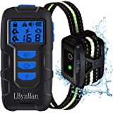 LByzHan Dog Shock Collars with Remote, Dog Training Collar w/3 Modes, Safety Lock, IPX7 Waterproof, 8 Levels Vibration & 16 L