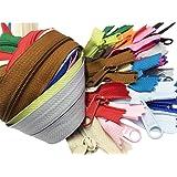 Zipperstop Wholesale YKK 60cm Purse Zippers Extra Long Handbag Pull Assorted Colours 19 Piece Pack YKK 4.5 Handbag Closed Bot