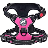 PoyPet No Pull Dog Harness, No Choke Front Lead Dog Reflective Harness, Adjustable Soft Padded Pet Vest with Easy Control Han