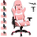 Advwin Gaming Chair Racing Style, Ergonomic Design 4D Armrest Reclining Executive Computer Office Chair, Relieve Fatigue (Pin