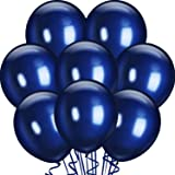 25 Packs 18 Inch Navy Blue Big Balloons Thick Latex Balloons for Navy Blue Birthday Baby Bridal Shower Wedding Party Decorati