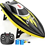 Remote Control Boat, SYMA Q7 RC Boat for Pools and Lakes with 2.4GHz 25km/h High Speed, Capsize Recovery, Low Battery Reminde