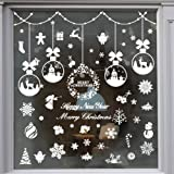 235 Piece Christmas Window Snowflake Cling Decals Stikcers Decorations For Holiday Celebration Merry Christmas Winter Wonderl