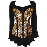 Dare to Wear Victorian Gothic Boho Women's Plus Size Corsetta Corset Top