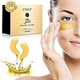 Under Eye Mask - 24K Gold Collagen Under Eye Patches for Dark Circles/Puffy Eyes/Wrinkles/Bags Under Eyes, Hydrated Under Eye