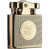 DEWEL オイルライター レトロ クラシック設計 復古 小型 灯油ライター 着火石付き 金属性 携帯便利 ギフト包装 父の日 男性プレゼント(オイル無し)