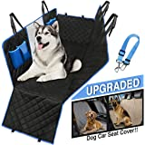 Dog Car Seat Cover Waterproof Hammock protects all back-seat area. Mesh Viewing Window, 4 Storage Pockets, Zipper Side Flaps