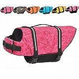 Doglay Dog Life Jacket with Reflective Stripes, Adjustable Dog Lifesaver Pet Life Preserver with High Buoyancy Swimsuit for S