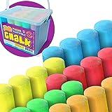 Sidewalk Chalk Sets For Kids For Outside Bulk Washable Chalk Bucket 20 Pieces