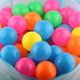 Dressbar Pack of 100 Phthalate Free BPA Free Crush Proof Plastic Ball, Pit Balls - 5 Bright Colors in Reusable and Durable St