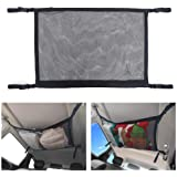 BRITOR Car Ceiling Storage Net Pocket-Universal Car Roof Interior Cargo Net Bag with Zipper,Car Trunk Storage Organizer Sundr