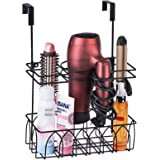 Alsonerbay Hair Dryer Holder Wall-Mounted/Door-Hanging Hair Tool Storage Caddy Metal Basket for Hair Care & Styling Tool Mult