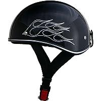リード工業(LEAD) バイクヘルメット ハーフ アメリカンビンテージ ブラックフレア フリーサイズ D-356 -
