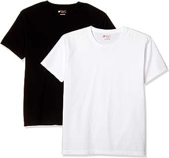 [ヘインズ] 半袖Tシャツ(2枚組) 綿100% クルーネック 5.3オンス Japan Fit メンズ