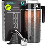 Cold Brew Coffee Maker - Coffee Gator Brewing Kit with Stainless Steel Measuring Scoop and Collapsible Loading Funnel - BPA-F