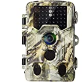 AlfaView Trail Camera 16MP 1080P HD Game & Hunting Camera with 120°Wide Angle Lens No Glow Night Vision Up to 75ft 0.2s Trigg